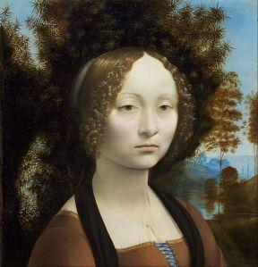Retrato de Ginevra de Benci. Leonardo da Vinci, h. 1474-1476