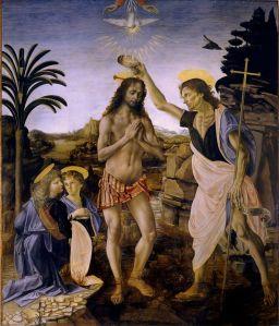 Bautismo de Cristo. Verrocchio, h. 1475-1478